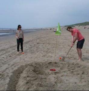 Golfen op blote voeten